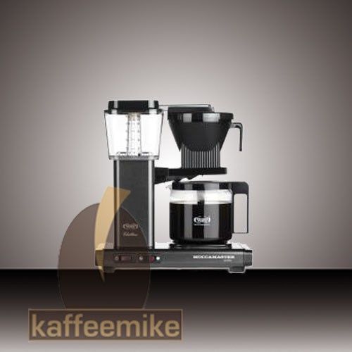 Moccamaster KBG 741 Steingrau-Metallic Filterkaffeemaschine mit Glaskanne