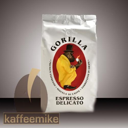 Gorilla Delicato - Espresso Kaffee 1000g Bohnen