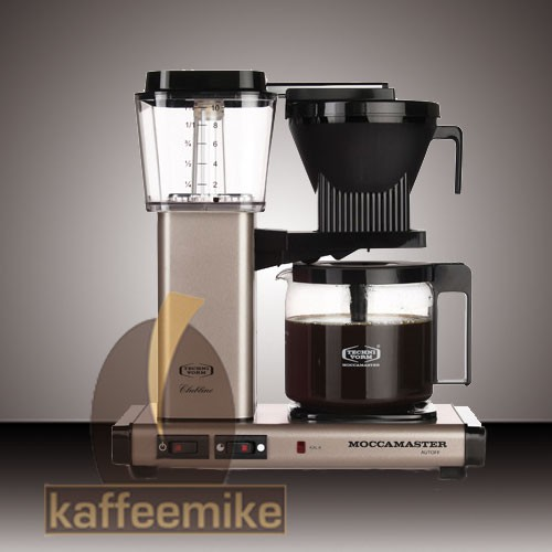 Moccamaster KBG 741 Satin Bronze Filterkaffeemaschine mit Glaskanne