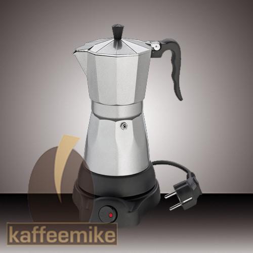"""Cilio """"Classico"""" 6 Tassen silber elektrischer Espressokocher"""